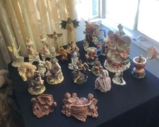 Numerous figurines from various makers including Lladro . $3 to $20