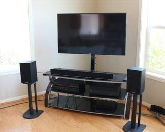 Flat Screen TV, Entertainment Center Surround Sound