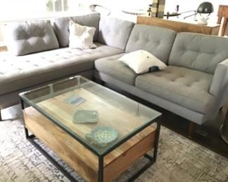West Elm Drake 2 piece sectional currently being sold for $3200.  Selling here $950