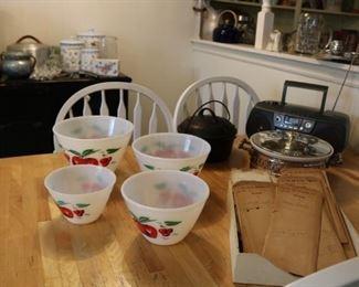 Fire King Cherry Nesting Bowls