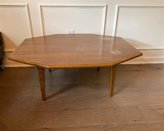 """#5Wooden mid century coffee table 39""""x31""""x16"""" As is top condition $75.00"""