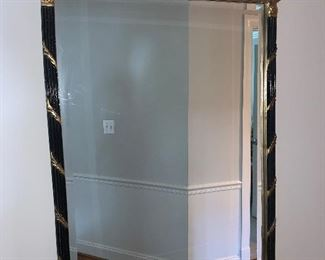 """Beautiful gold and black finish mirror in excellent condition 33""""x23.5"""" - Price $395"""