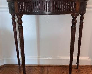 """Demilune mahogany table in excellent condition 33""""x16.5""""x33.5"""" - Price $495"""