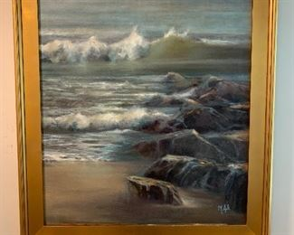 """Martha Spak painting in excellent condition 29""""x32"""" - Price $450"""