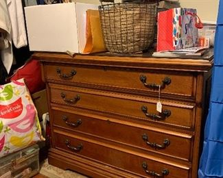 Solid oak2 drawer file cabinet with glass top