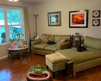 Custom made loveseat and chaise