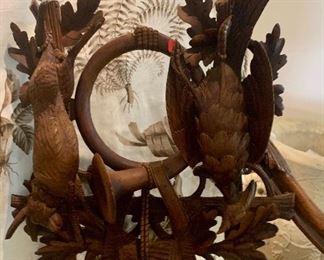 Black Forest Carved Wood Game Plaque