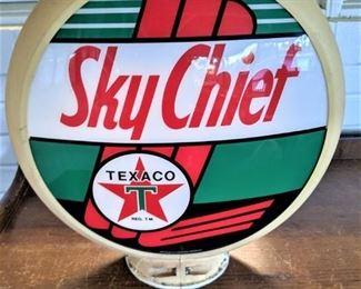 """VINTAGE Original Sky Chief """"Texaco"""" Gas pump globe"""