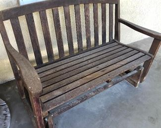 Outdoor glider bench