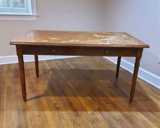 """Basic farmhouse table...33"""" wide x 58"""" long"""