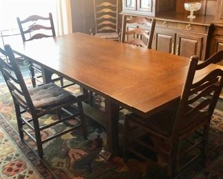 Trestle table & chairs