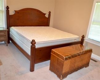 King size bed - The cedar chest will not be available.