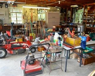 Packed workshop! Sorry but the riding mower will NOT be available.