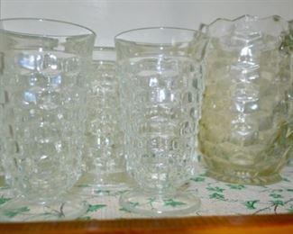 Fostoria American ???  cubist glasses & pitcher
