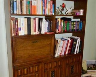 retro bookshelf