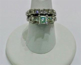 One additional consignment added (not a part of current estate):  Platinum Wedding Set.  The other consignor will bring to sale on Saturday and It will be available for preview.