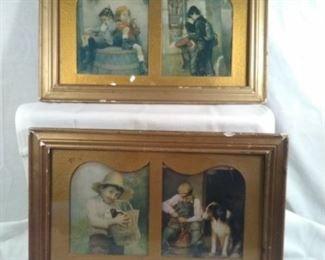 Antique Framed Prints Featuring Boys of Yesteryear