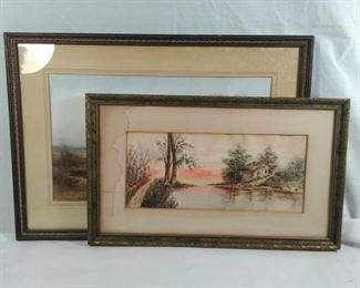 Antique pictures featuring cottages