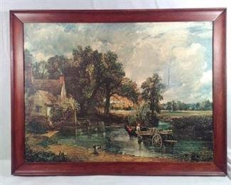 John Constable the Hay Wain on Canvas
