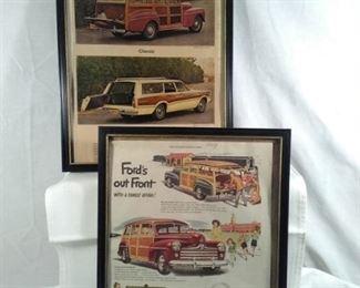 FORD Advertising Framed