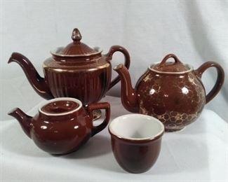 Hall USA andHAll China Chocolate brown and gold collection
