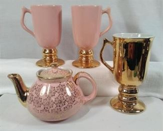 Hall USA in pink and gold