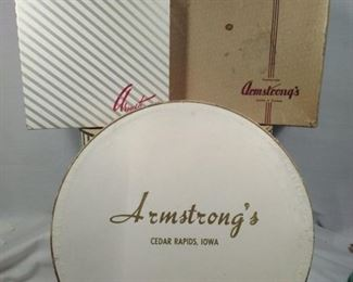 Vintage hat boxes Armstrong