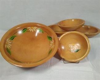 Vintage Munising wood bowls