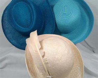 Vintage straw type hats