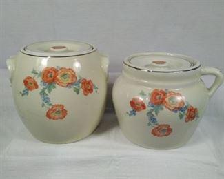 Halls Superior Kitchenware Orange Poppie