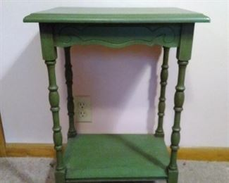 vintage wooden stand painted