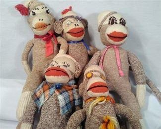 Handmade sock monkeys