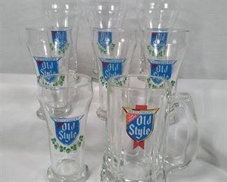 old style heilmans beer glasses