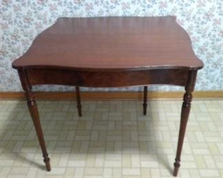 open leaf table game and card table
