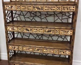 """Decorative Wooden Shelves, 48"""" W x 65"""" H x 12 1/2"""" D."""