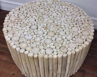 "Tree Branch Circular Coffee Table, 30"" diameter, 16"" H."