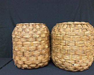 """Large Baskets, 20"""" H, 16"""" diameter."""