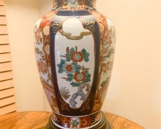 Lot #802 - (close up view of table lamp, other side)
