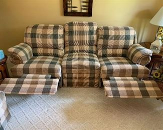 """recliners in """"up"""" positions-LIKE NEW"""