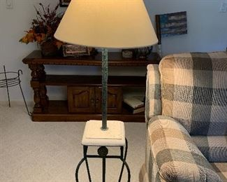 Table/Lamp combo-great for small area space
