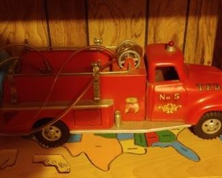 1950's Tonka Fire Truck no. 5
