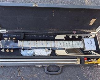 1964 Airline Rocket lap steel guitar consolette w/legs