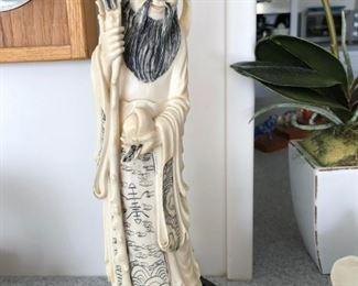 Ivory Longevity Deity Statue