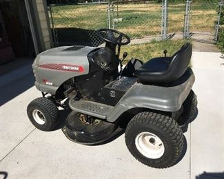 Work smart not hard! This Craftsman lawn tractor will make mowing your lawn really easy! No need to sweat!
