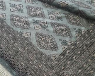 """large rug, hand woven blue and black 9' 4"""" x 12' 4"""" $800. Obo"""
