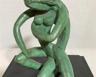 Modernist Figural Abstract Bronze Sculpture
