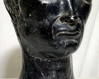 Mid Century Mythological Plaster Bust Sculpture