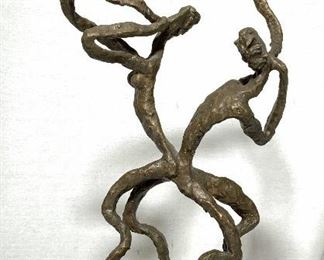 Abstract Figural Bronze Sculpture Estelle Goodman