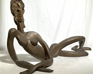 Nude Female Large Abstract Bronze Sculpture