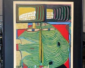 Signed Friedensreich Hundertwasser Gallery Poster 1